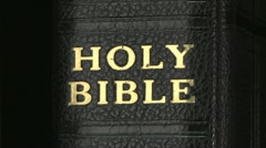 Holy Bible rh 02 - stock footage