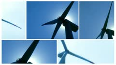 Wind power split screen 1 Stock Footage
