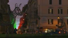 Nativity scene in Rome Stock Footage