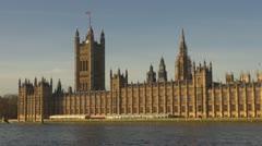 London Parliament Building  Stock Footage