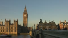 Timelapse traffic street London Parliament Building and Big Ben Stock Footage