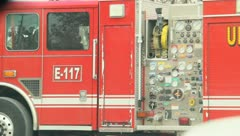 Fire Engine Truck 1 Stock Footage