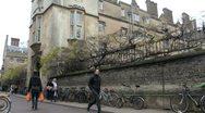 Sidney Sussex College in Sidney Street, Cambridge, UK Stock Footage