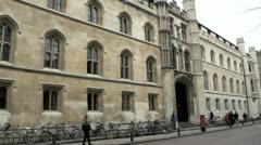 Corpus Christi College, Cambridge, UK Stock Footage