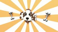 Cartoon Dog Background - Animals 01 (HD) Stock Footage