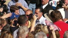 Mitt Romney Greets Voters In Dunedin Stock Footage