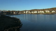 Maine Boothbay Harbor view sx - stock footage