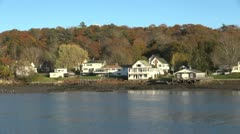 Maine Boothbay Harbor houses sx - stock footage