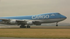 KLM Cargo plane take-off - stock footage