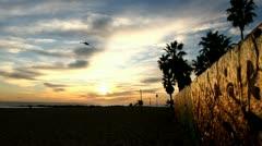 Beautiful Beach Sunset Stock Footage