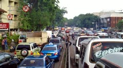 Traffic Jump in Jakarta - stock footage
