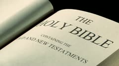 The Holy Bible Stock Footage