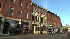 Maine Portland buildings sx Stock Footage