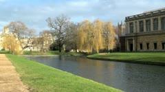River Cam, Cambridge, UK Stock Footage