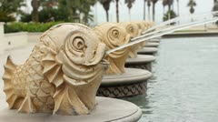 Fountain Close Up - stock footage