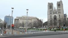 Saint Michael and Saint Gudula Church, Brussels, Belgium Stock Footage