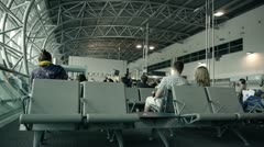 Airport Waiting Lounge FULL HD Stock Footage
