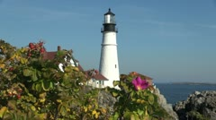Maine Portland Head lighthouse sx Stock Footage