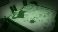 10649 sleepless sleep night camera time lapse wide zoom Stock Footage
