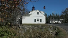 Maine Southport fire station and cemetary sx Stock Footage