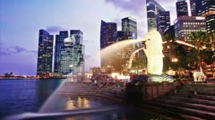 Singapore day to night. time lapse Stock Footage