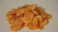 Potato Chip Drop 29.97 Stock Footage
