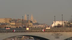 View to The Basilica of the Sacred Heart of Paris - stock footage
