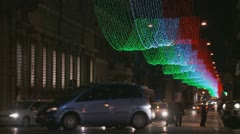 Traffic at Christmas Stock Footage
