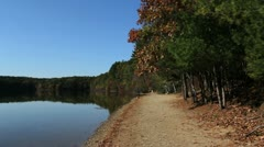 Massachusetts Walden Pond long beach Stock Footage