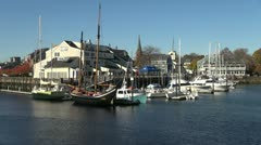 Massachusetts Salem boats and Maritime Museum sx Stock Footage