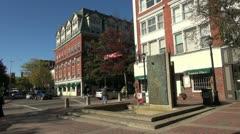 Massachusetts Salem monument and corner sx Stock Footage