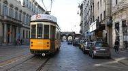 Stock Video Footage of Beautiful Old Tram via Manzoni Street Milan Italy Italian European Architecture