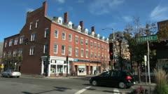 Massachusetts Salem street corner sx - stock footage