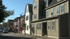 Massachusetts Salem street scene and houses Stock Footage