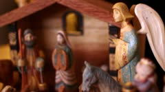 A nativity Creche Stock Footage