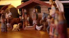Beautiful Creche Rack Focus Stock Footage