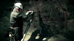 Miner at work industrial 2 Stock Footage