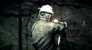 Miner at work industrial Stock Footage