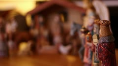 Christmas Creche Rack Focus Stock Footage
