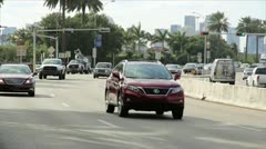 Traffic in Miami Stock Footage