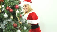 Santa Girl sends a kiss Stock Footage