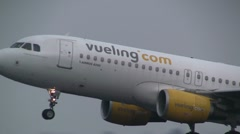 Vueling plane takes off Stock Footage