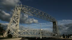 Duluth Aerial Lift Bridge Stock Footage