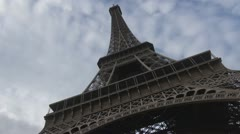 Amazing Eiffel Tower paris close-up france restaurant tourism attraction icon Stock Footage