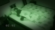 10652 sleepless sleep night camera time lapse wide clock Stock Footage