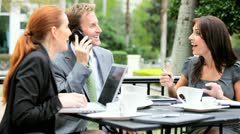 Business Team Hearing of Success - stock footage