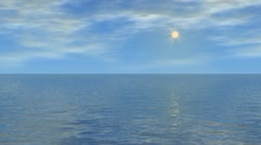 water and sky 01 - stock footage