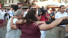 People dancing folk dance 5 - stock footage
