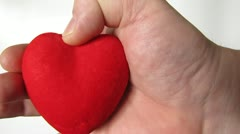 Heart, hand, a gift for a wedding feast Stock Footage
