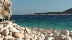 Beautiful sea scenery on Kaputas beach 3 Stock Footage